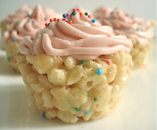 Cake batter Rice Krispie recipe