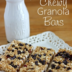 {No Bake} Chewy Granola Bars