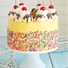 Banana Split Mousse Cake