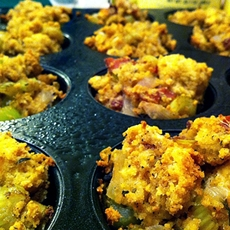 Gluten Free Stuffing Muffins For Thanksgiving