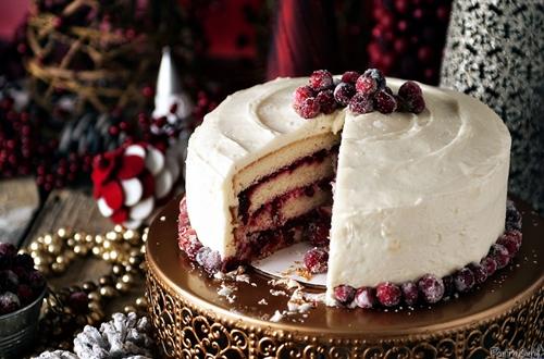 Cranberry Vanilla Bean Cake