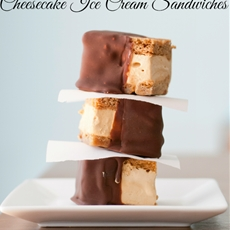 Dulce de Leche Cheesecake Ice Cream Sandwiches