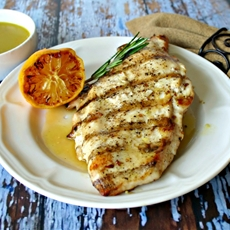 Grilled Chicken with Caramelized Lemon Vinaigrette