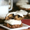 Banana Bread Cookies with Maple Cream Cheese Frosting