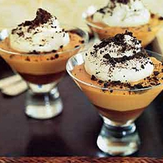Black-Bottom Caramel Pudding
