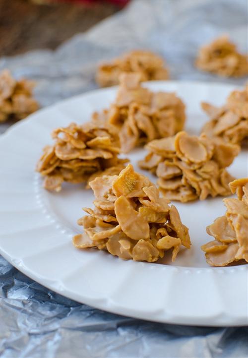 No-Bake Butterscotch Cornflake Cookies