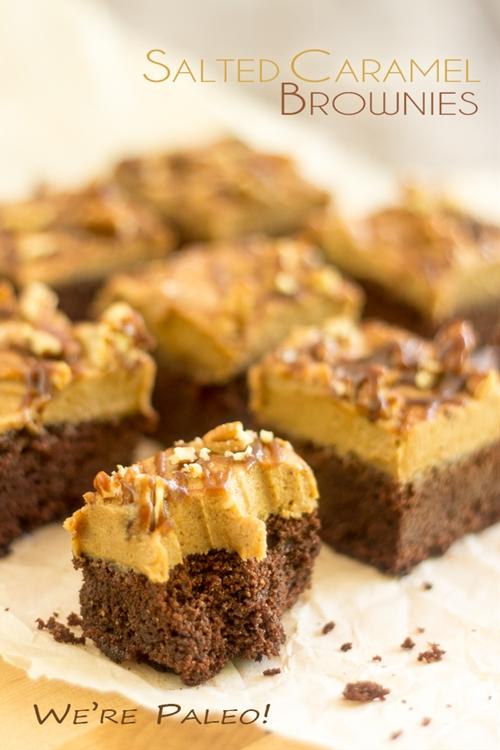 Paleo Salted Caramel Brownies