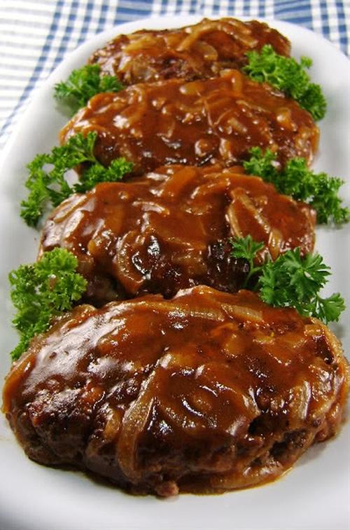 Salisbury Steak with Caramelized Onion Gravy