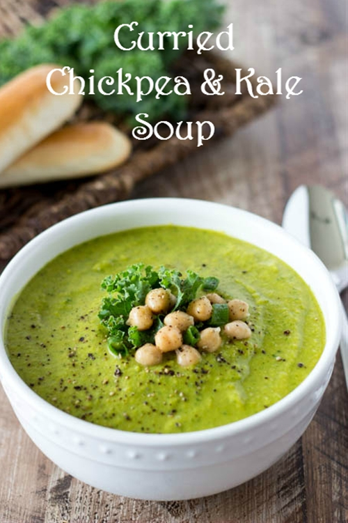 Curried Chickpea and Kale Soup