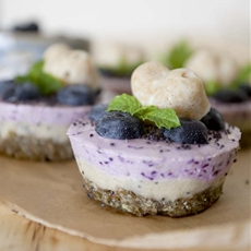 Blueberry lemon mini cheesecakes