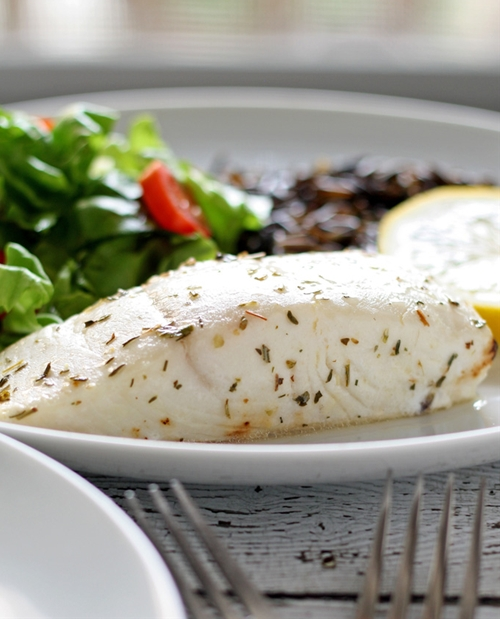 Easy Baked Alaskan Halibut