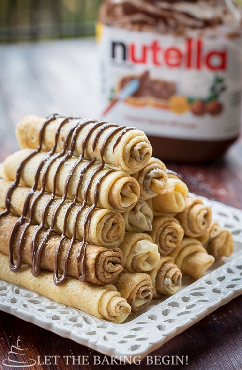 Nutella Stuffed Crepes & 3 Ways to Fold Them Let the Baking Begin!