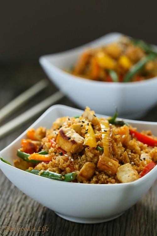 Vegetarian dirty Thai fried quinoa