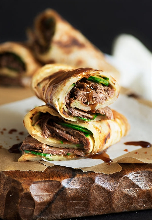 Taiwanese Beef Stuffed Scallion Pancake