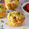 Quinoa Flakes, Feta, Roasted Capsicum & Corn Savoury Muffins