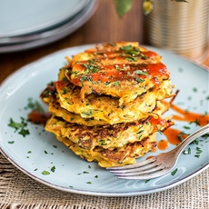 Spicy vegetable pancakes