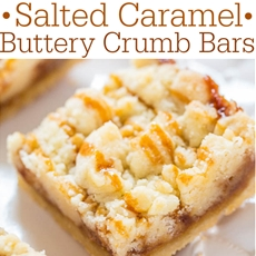 Salted Caramel Buttery Crumb Bars