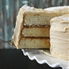 Vanilla Bean Cake with Whipped Dulce de Leche Frosting