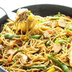 One Pot Chicken Chow Mein