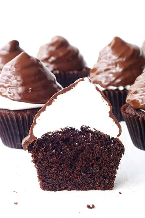 Chocolate High Hat Cupcakes