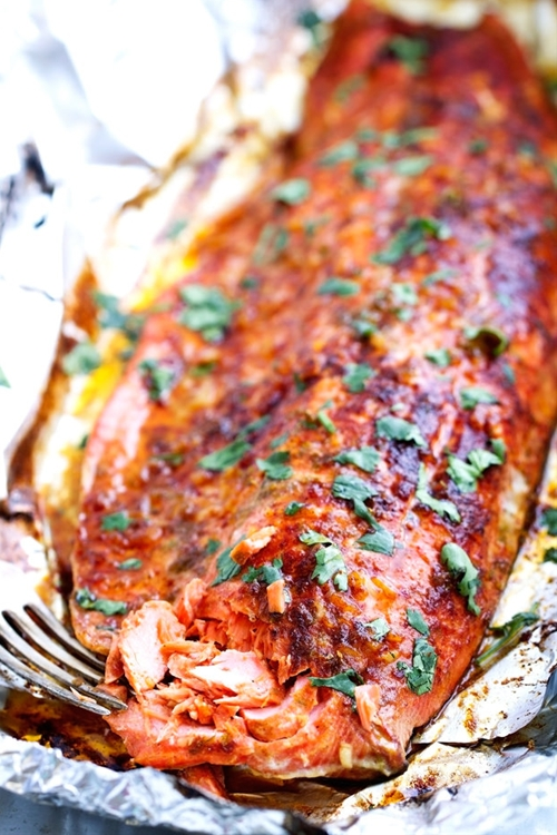 Chili-Lime Baked Salmon in Foil