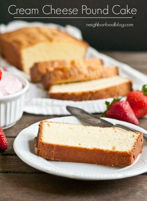 Mom's Cream Cheese Pound Cake recipe | Chefthisup
