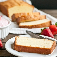 Moms Cream Cheese Pound Cake