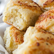 Garlic and Rosemary Pull-Apart Rolls with Asiago Cheese