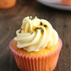 Passion fruit and white chocolate cupcakes