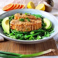 Honey Sesame Ginger Glazed Salmon