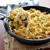 Creamy Bacon, Chicken and Broccoli Bread Bake