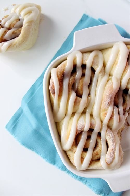 Small Batch Cinnamon Rolls with Cream Cheese Frosting