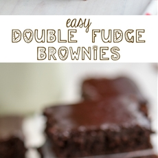 Easy Double Fudge Brownies with the most amazing frosting ever.