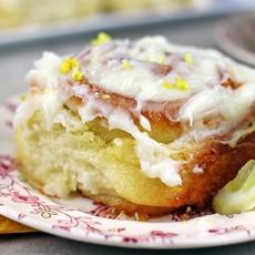 Lemon Curd Sticky Rolls with Cream Cheese Glaze