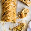 Vegetarian Samosa Braid with Tamarind Sauce