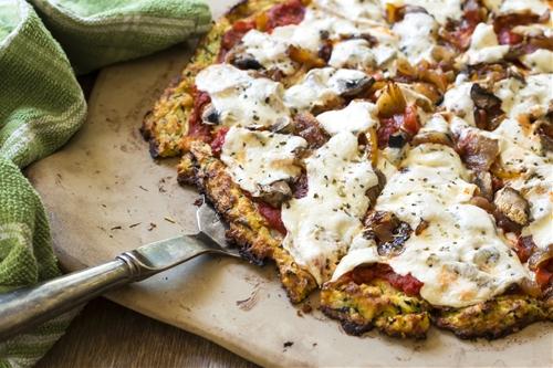 Zucchini Crusted Veggie Delight Pizza