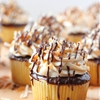Samoa cupcakes with caramel buttercream frosting
