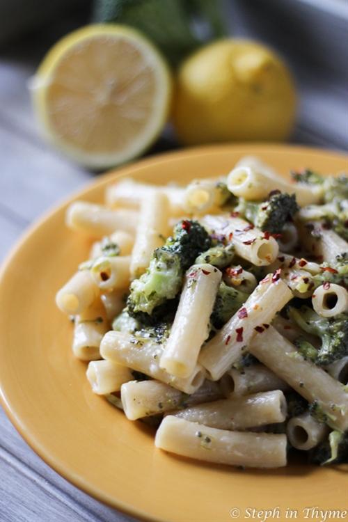 Gluten Free Rigatoni with Lemony Broccoli