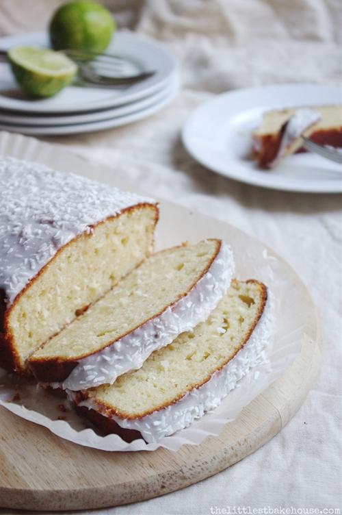 Lime & coconut yoghurt cake