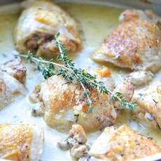 Mustard and Thyme Chicken Skillet