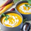 Roasted Carrot Soup with Coconut Cream