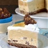 Salted Caramel Brownie Brittle Ice Cream Cake
