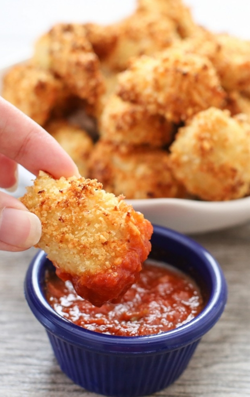 Crunchy Baked Parmesan Chicken Bites