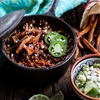 Spicy Black Bean and Lentil Chili with Cotija Guacamole