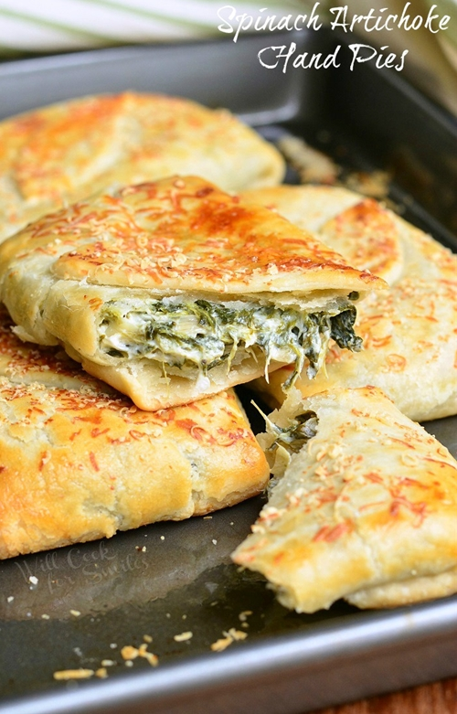 Spinach Artichoke Hand Pies
