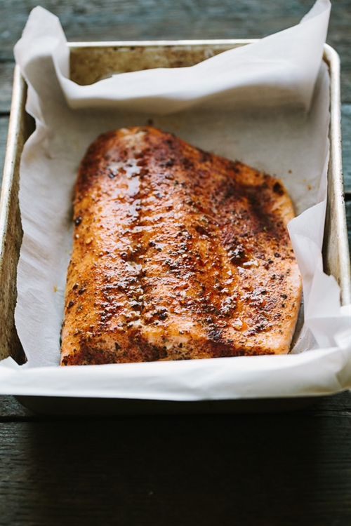 Baked Salmon with Potlatch Seasoning