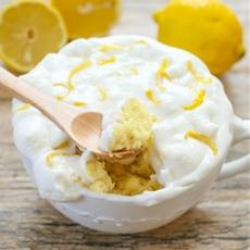 Lemon Cloud Mug Cake