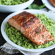 Pan Seared Salmon With Spice Rub