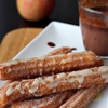 Churros with maple glaze