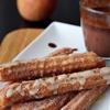 Churros with maple glaze
